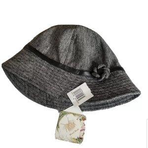 NEW Cappelli Gray Wool Blend Bucket Hat